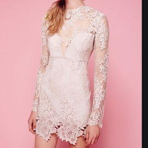 NEW FREE PEOPLE X SAYLOR Leondra Lace Mini Dress M